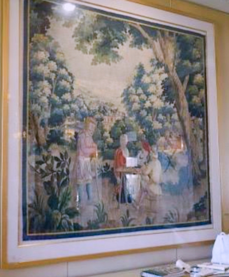 Aubusson style verdure tapestry panel