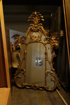 PAIR OF ROCOCO STYLE GILT WOOD & GESSO MIRRORS (RIGHT)