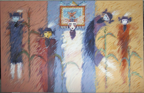 Phoenician Collection Dan Namingha Corn Maidens and Butterfly Maidens -3