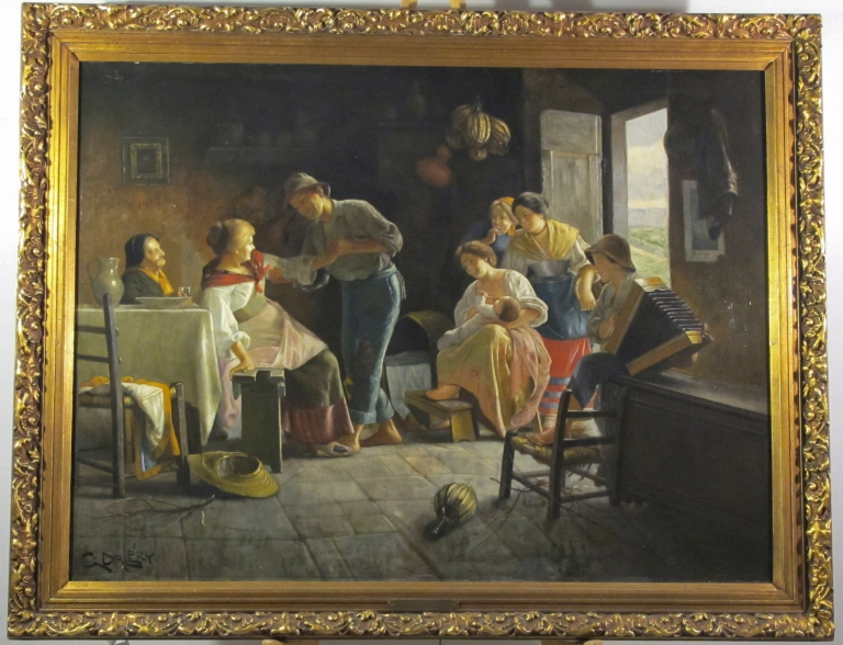 Phoenician Collection G. Dalery Family Scene (Afternoon Merriment)-3