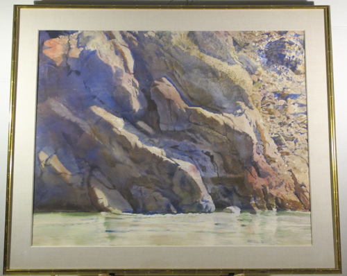 Phoenician Collection Merrill Mahaffey Untitled Landscape Bluffs by River-1